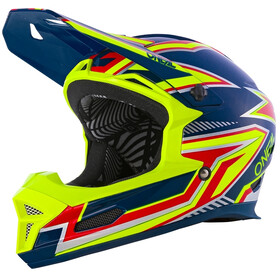 O'Neal Fury Helm Rapid, blue/neon yellow